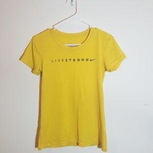 Nike yellow dri fit tee 09